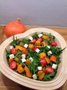 Salat med ovnbagt hokkaidogræskar, low fodmap
