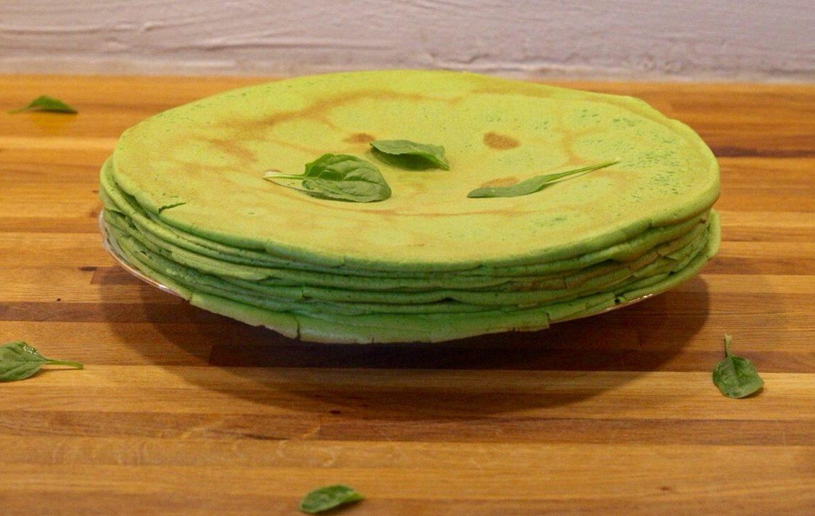 glutenfri spinatpandekager