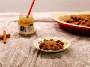glutenfri, low fodmap julevafler med kanel til morgenmad