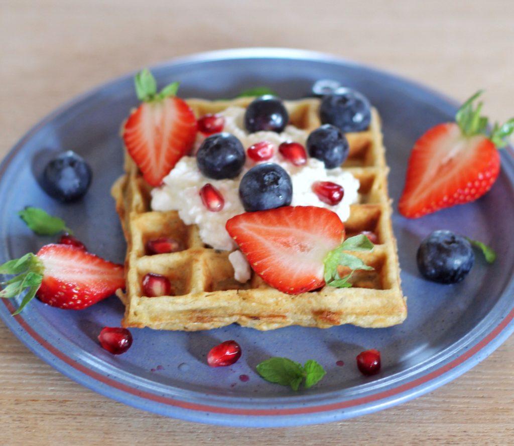 Nemme glutenfrie morgenmadsvafler. Lækker morgenmad eller brunch. low fodmap glutenfri vafler, sunde vafler