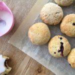 Glutenfri fastelavnsboller med marcipan og blåbær - Low FODMAP