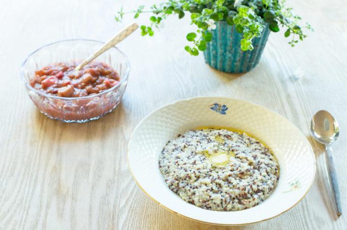 Quinoa- og hirsegrød (low FODMAP)