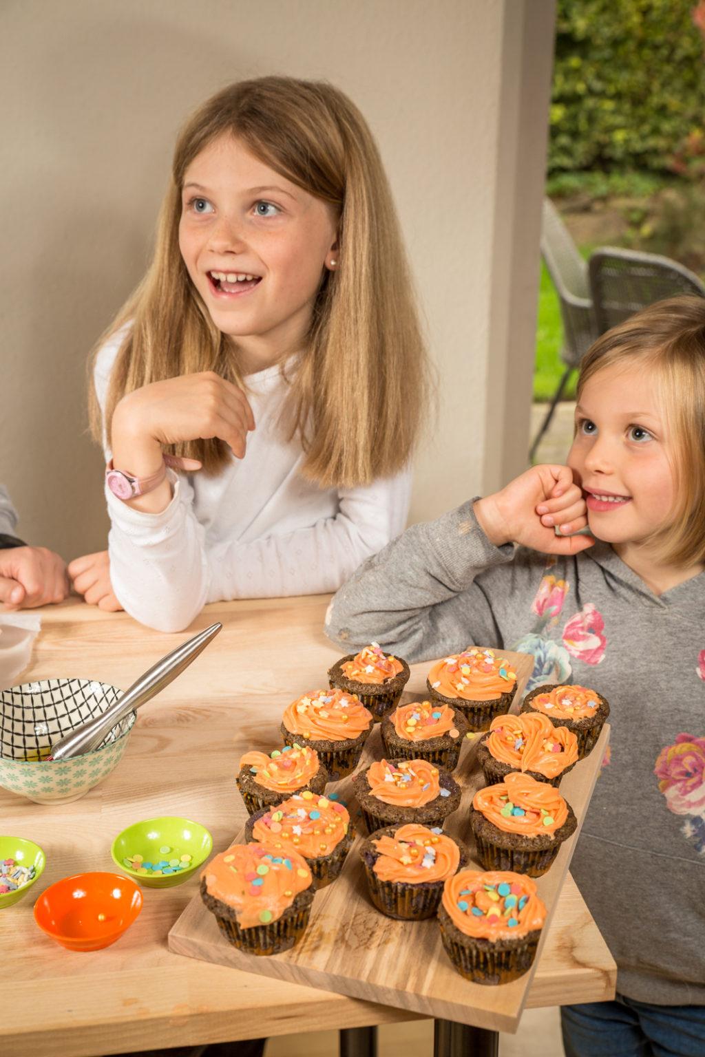 Børn på bagekursus hos Karina Baagø