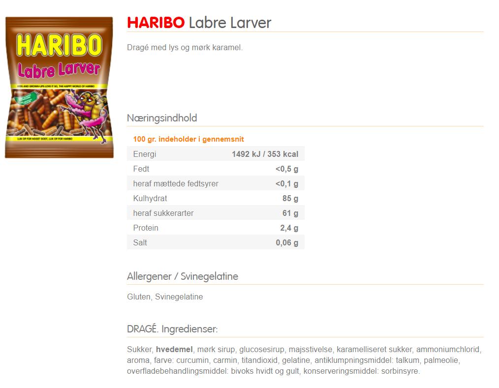 Karina Baagø forklarer om ingredienser i Labre Larver.
