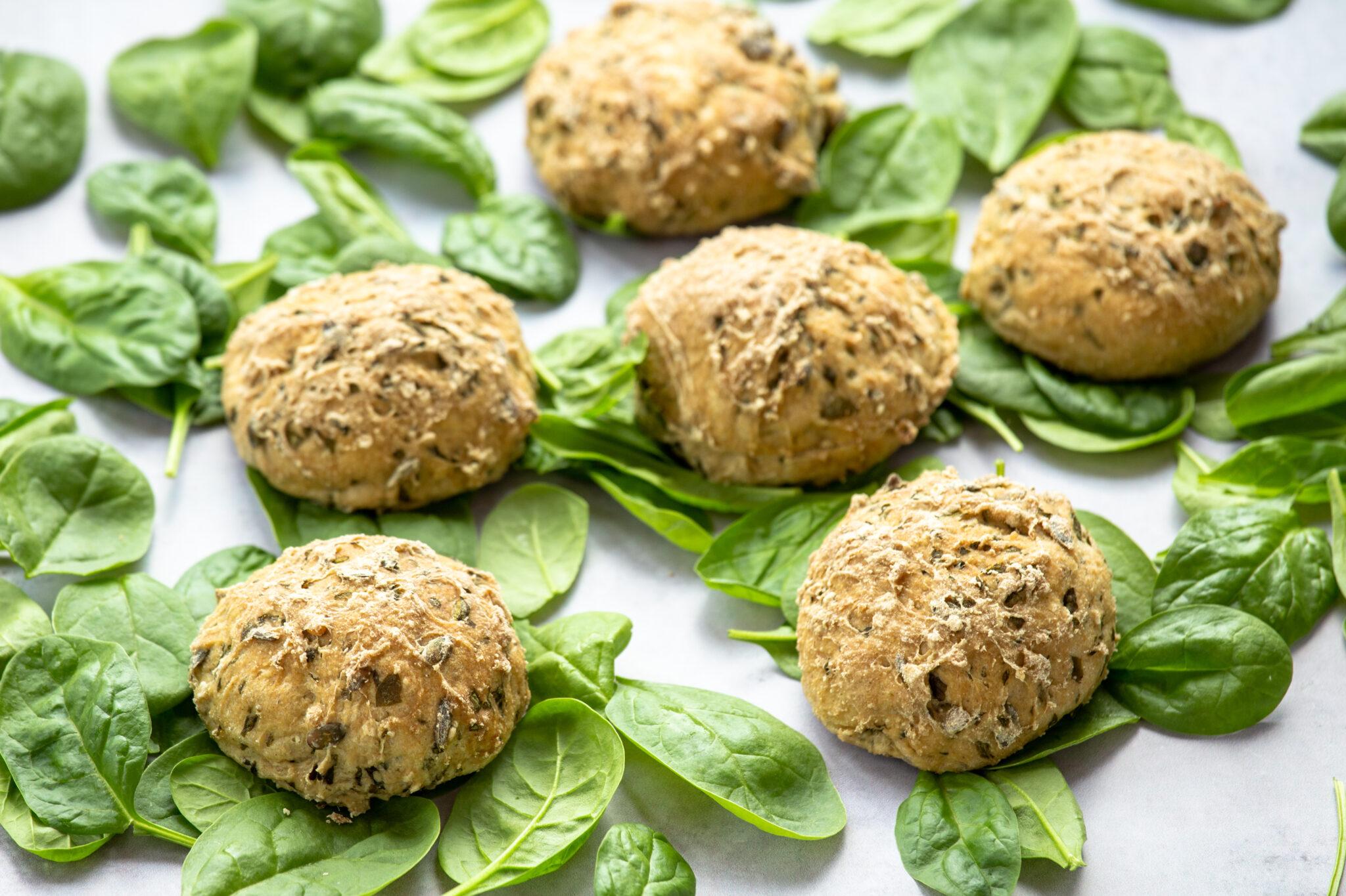 opskrift på glutenfri spinatboller