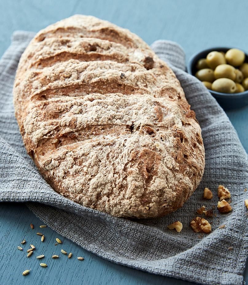 Billede af glutenfrit brød i en artiklen om DR-programmet Den Store Glutenfri Bagedyst