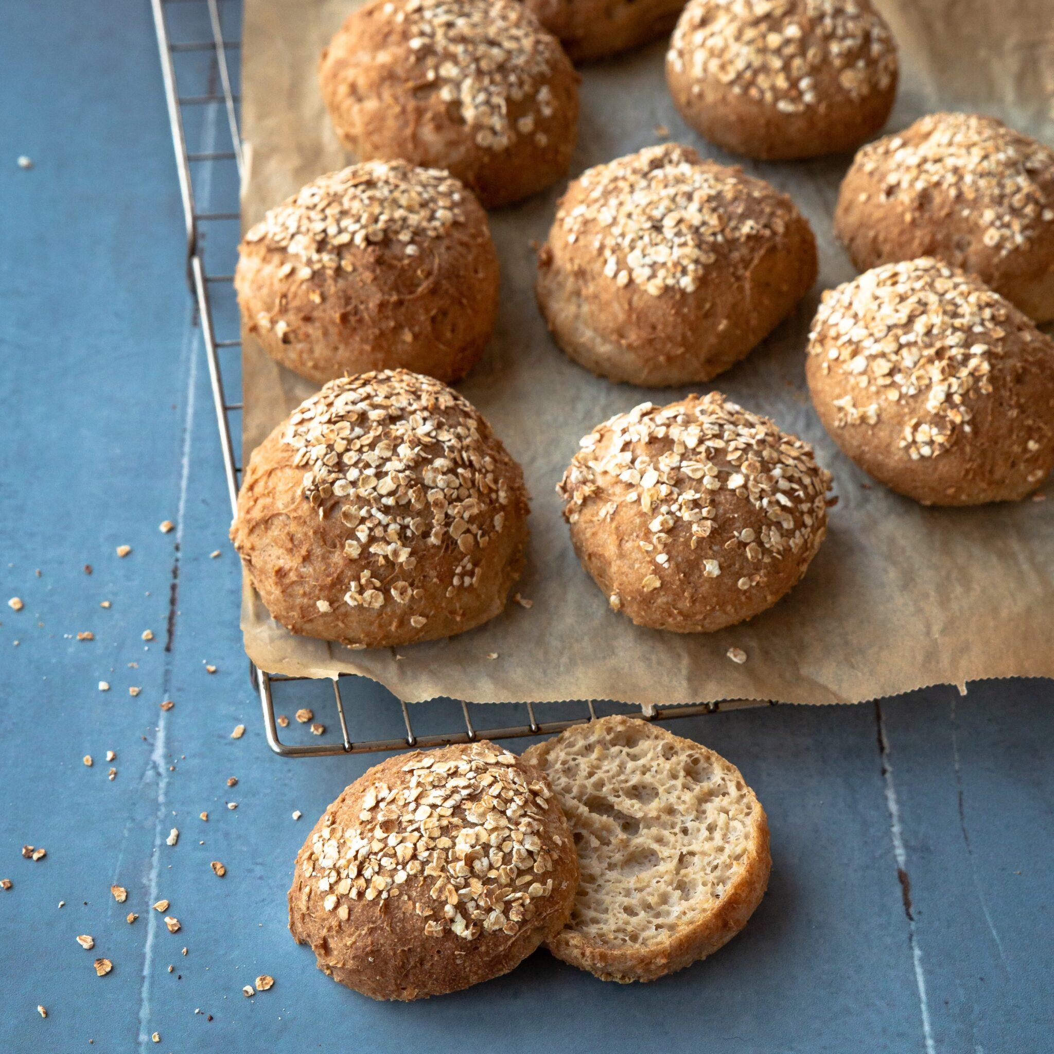 glutenfri havreboller fra bagekursus