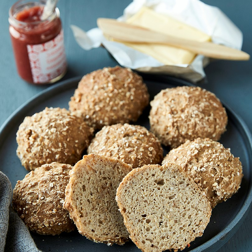 glutenfri surdejsboller fra online bagekursus